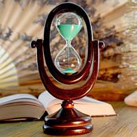 Песочные часы зеленый песок 10 минут (22х12,5х8 см)