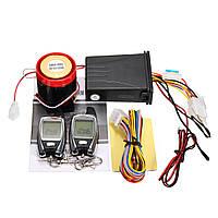 2Way LCD мотоцикл Анти Система охранной сигнализации кражи Дистанционное Управление Двигатель Начало