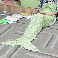 180 * 90см волна пряжи вязание хвост русалки одеяло подарок на день рождения одеяло кровать мешок коврик сна