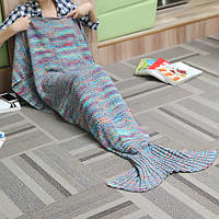 180x90cm 2 цвета мешок пряжи вязание хвост русалки одеяло кондиционер одеяло кровать коврик сна