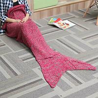 Два размера толстой иглой пряжи вязание хвост русалки одеяло женщина нагреться супер мягкий мат кровать