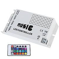 Беспроводной звук музыки RGB контроллер для LED полосы освещения IR DC12-24V 24 клавиш