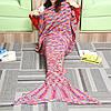 180x90cm красочные пряжи вязание хвост русалки большое одеяло нагреться супер мягкой кровати мешок коврик сна