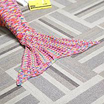 180x90cm красочные пряжи вязание хвост русалки большое одеяло нагреться супер мягкой кровати мешок коврик сна, фото 2