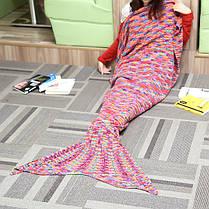 180x90cm красочные пряжи вязание хвост русалки большое одеяло нагреться супер мягкой кровати мешок коврик сна, фото 3
