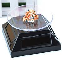 Витрина 360 ° поворотный стол дисплей вращение солнечной стенд для показа ювелирных изделий вахты кольца телефона