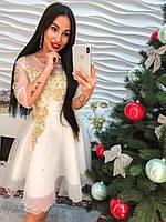 Шикарное вечернее платье с вышивкой и стразами арт-367 Фабричный Китай db-12.025