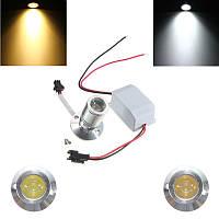 DC12V 1w мини LED тепло / белый свет украшения кабинета лампа потолок прожектор