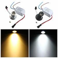 AC85-265V 1w мини LED тепло / белый свет украшения кабинета лампа потолок прожектор