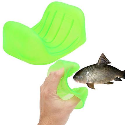 Предотвратить зарезал Антипробуксовочная поймать рыбу ловить захват перчатки Средства защиты рук пойманной рыбы устройство, фото 2