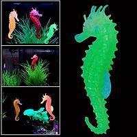 Светящихся искусственный смоделированные гиппокамп экологически чистый материал аквариума декор аквариума