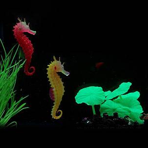 Светящихся искусственный смоделированные гиппокамп экологически чистый материал аквариума декор аквариума, фото 2