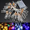 С питанием от батарей 20 LED желая бутылка фея свет шнура Рождество сад свадьба декор