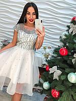 Красивое платье с пришитыми стразами  арт-358  Фабричный Китай db-12.027