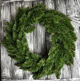 Венок еловый новогодний 50 см ель ели ёлка ёлки елка елки сосна искусственная штучна ялинка ялинки сосни