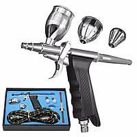 Двойного действия аэрографа пистолет комплект пневматического пистолета набор с аэрографом шланга и пистолета-распылителя