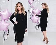 Женское велюровое платье большого размера  +цвета, фото 1
