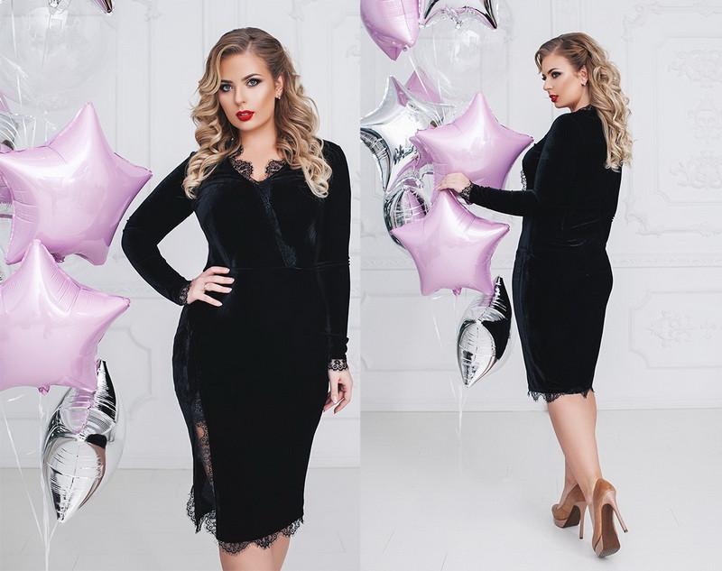 c3ecd90942b Женское велюровое платье большого размера +цвета - Интернет магазин