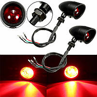 2 штук LED сигналы поворота индикатора хвост тормоза красный свет универсальный мотоцикл мотоцикл