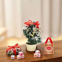 Мини настольный Рождественская елка орнамент мульти-модели случайных Рождество домой партия обеденный стол декор
