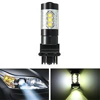 3157 7443 80w 7000k LED идущего света боковой габаритный фонарь обратный резервный хвост стоп лампа белого