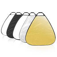 5 в 1 selens 5 цветовых 80cm 31.5 дюйма 80см треугольник портативный отражатель сборно-разборные