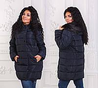 Женская зимняя стильная куртка холлофайбер до больших размеров 6127
