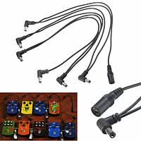 6 способ 9В питания сплиттер кабель Шлейфовое для педали эффектов электрической гитары