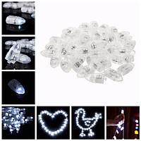 50шт белый LED воздушный шар лампы свет украшения для Xmas партии фонарь свадьба день рождения