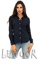Рубашка на кнопках из джинса стрейч