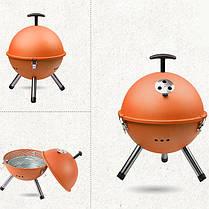 Открытый портативный гриль барбекю круглый уголь печь барбекю пикник плита, фото 2