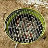 Открытый портативный гриль барбекю круглый уголь печь барбекю пикник плита, фото 3