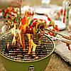 Открытый портативный гриль барбекю круглый уголь печь барбекю пикник плита, фото 4