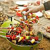 Открытый портативный гриль барбекю круглый уголь печь барбекю пикник плита, фото 5