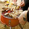 Открытый портативный гриль барбекю круглый уголь печь барбекю пикник плита, фото 6