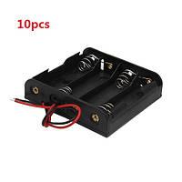 10 штук поделки 6v 4 слота/4 х АА держатель батареи с проводами