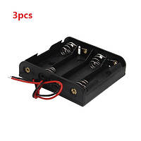 3шт поделки 6v 4 слота / 4 х АА держатель батареи с проводами