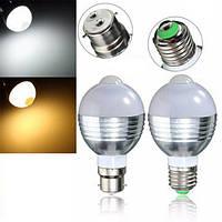 E27 b22 5w 5730 10 СМД автоматический PIR датчик движения LED чистый белый теплый шарик AC85-265V белый свет