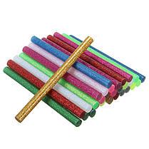 30 штук многоцветной блеск клей горячего расплава палочки для корабля прикладного искусства, фото 2