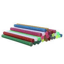 30 штук многоцветной блеск клей горячего расплава палочки для корабля прикладного искусства, фото 3