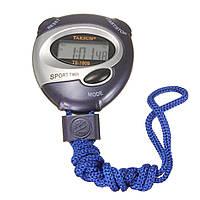 Цифровой портативный спортивный время секундомер секундомер будильник счетчик таймера синий