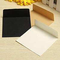 10X10CM Квадратные мини-пустые конверты для хранения бумаги Конверты