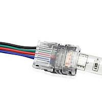 Соединитель 10мм проволоки 4pin для водонепроницаемой RGB LED полосы света