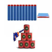 100шт светло-голубые заправочные пули дротик для нерф н-страйк элита ярости Retaliator серии