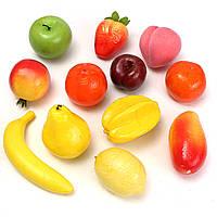 12шт реалистичное декоративные пластиковые искусственные поддельные фрукты домашнего ремесла искусство