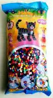 Бусины для термомозаики 6000 шт, 22 цвета,  Миди от 5-ти лет Hama 205-67