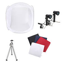 30 дюймов съемки фото палатка съемки коробка софтбокс студия комплект установлен со светом и штатив