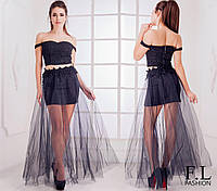 Летний костюм фатиновая юбка и топ