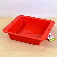 Форма для выпекания квадратная силиконовая с ручками 26,1x24,5x6 см Kamille
