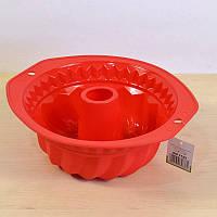 Форма силиконовая круглая для выпечки с ручками 27,8x25,8x10,2 см